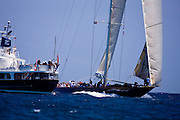 Velsheda sailing in the 2010 Antigua Classic Yacht Regatta, Windward Race, day 4.