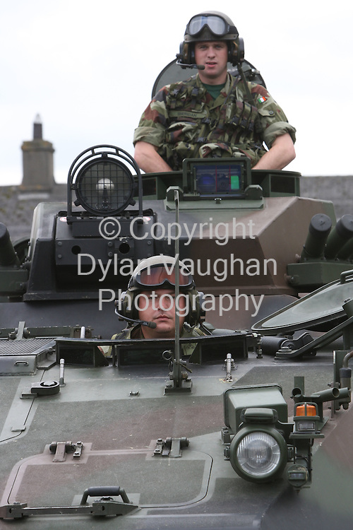 21/8/2008..Private Eoin Stapleton from Kilkenny (front) and Corporal Mark Sheridan from Kilkenny pictured at the press information day at Stephens Barracks in Kilkenny for the 98th Infantry Battalion ahead of the deployment to Chad..Picture Dylan Vaughan.