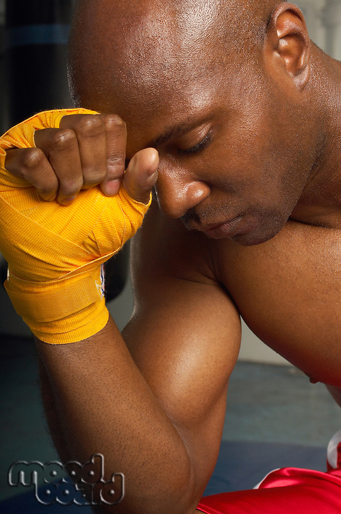 Boxer Mentally Preparing