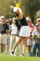 March 27, 2005; Rancho Mirage, CA, USA;  15 year old amateur Michelle Wie tees off during the final round of the LPGA Kraft Nabisco golf tournament held at Mission Hills Country Club.  Wie shot a 1 under par 71 for the day and an even par 288 for the tournament and finished tied for 14th and won the award for low amateur.<br />Mandatory Credit: Photo by Darrell Miho <br />&copy; Copyright Darrell Miho