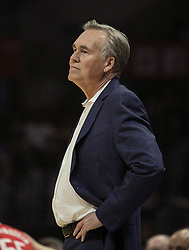 October 21, 2018 - Los Angeles, California, U.S - Coach, Mike D Antoni of the Houston Rockets during their NBA game with the Los Angeles Clippers on Sunday October 21, 2018 at the Staples Center in Los Angeles, California. (Credit Image: © Prensa Internacional via ZUMA Wire)