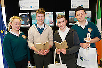 11/11/2015 Repro free:   More than 300 students visited the Marine Institute for Galway Science &amp; Technology Festival and the Sea for Society project. At the event were <br /> pupils from Colaiste na Coirbe &Aacute;ine Madden, Conal Sheridan, Cathal Collins and Tomas Murray. Photo:Andrew Downes, xposure.