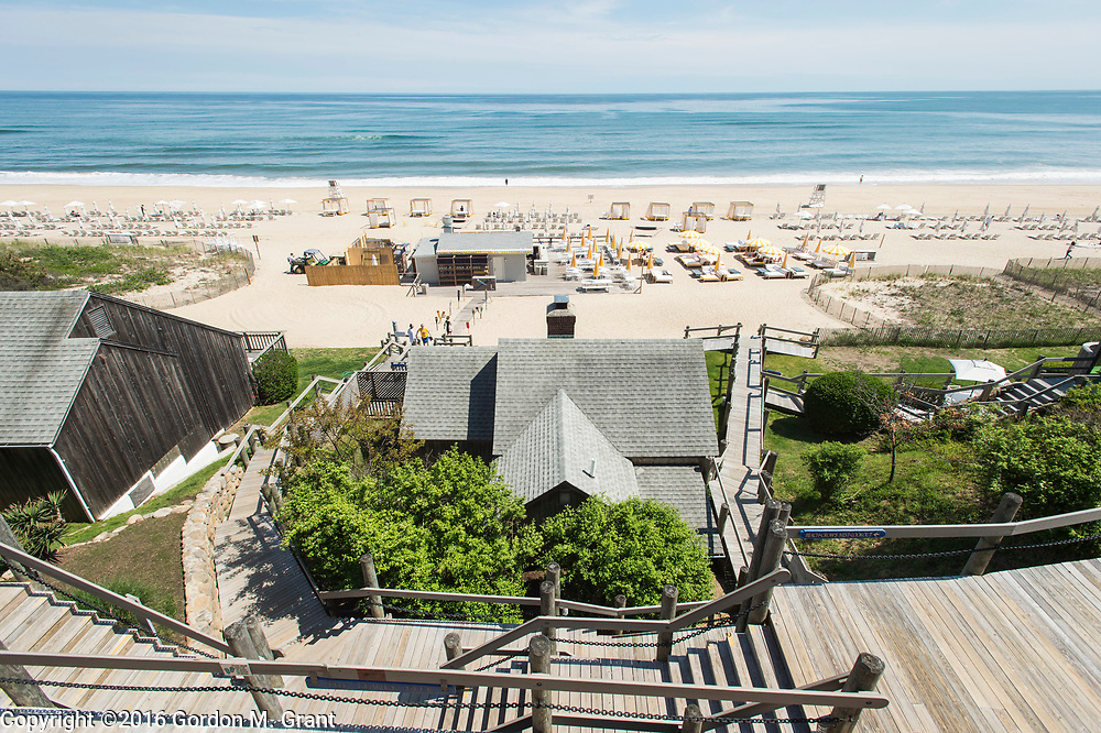 Montauk, NY - 5/23/16 - A view of the beach at Gurney's Montauk Resort &amp; Seawater Spa, in Montauk, NY May 23, 2016. CREDIT: Gordon M. Grant for The Wall Street Journal<br /> <br /> NYSPACES_Montauk
