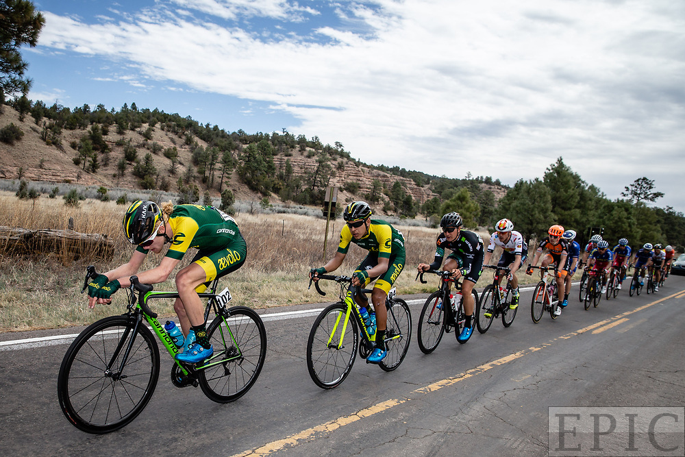 SILVERY CITY, NM - APRIL 22: Alex Hoehn (Aevolo) pulls on the front of the breakaway during stage 5 of the Tour of The Gila on April 22, 2018 in Silver City, New Mexico. (Photo by Jonathan Devich/Epicimages.us)