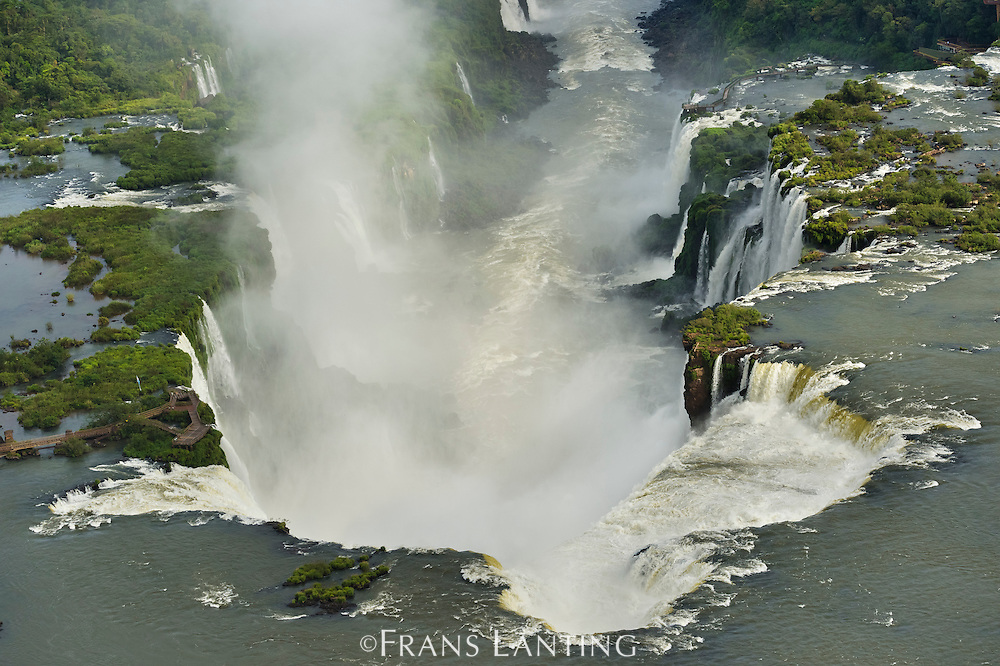 Iguacu Falls (aerial), Iguacu National Park, Brazil