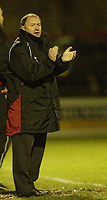 Photo: Aidan Ellis.<br /> York City v Bristol City. The FA Cup. 11/11/2006.<br /> Bristol's manager encourages his team