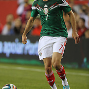 Miguel Layún, Mexico, in action during the Portugal V Mexico International Friendly match in preparation for the 2014 FIFA World Cup in Brazil. Gillette Stadium, Boston (Foxborough), Massachusetts, USA. 6th June 2014. Photo Tim Clayton