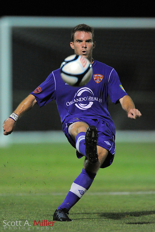 Orlando City U23 player Nick Sowers (3) in action during the Lions US Open Cup game against Jacksonville United on May 15, 2012 in Sanford, Fla. ..©2012 Scott A. Miller..