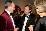 SIMON JENKINS; GEORDIE GREIG; JOANNA TROLLOPE, National Portrait Gallery fundraising Gala in aid of its Education programme, National Portrait Gallery. London. 3 March 2009 *** Local Caption *** -DO NOT ARCHIVE-© Copyright Photograph by Dafydd Jones. 248 Clapham Rd. London SW9 0PZ. Tel 0207 820 0771. www.dafjones.com.<br /> SIMON JENKINS; GEORDIE GREIG; JOANNA TROLLOPE, National Portrait Gallery fundraising Gala in aid of its Education programme, National Portrait Gallery. London. 3 March 2009