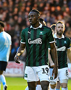 Freddie Ladapo (19) of Plymouth Argyle during the EFL Sky Bet League 1 match between Plymouth Argyle and Accrington Stanley at Home Park, Plymouth, England on 22 December 2018.