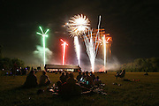 Fireworks light up the summer sky at Boondocks Farm near Knightstown In. on Saturday June 28, 2008. The fireworks capped off a day and evening of Christian music during the God And Country Festival. (Mike Fender / The Star)