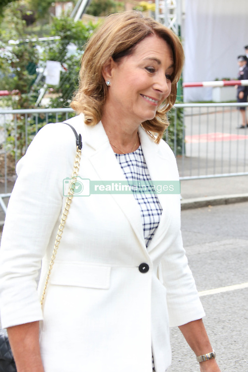 Carole and James Middleton arrived at Wimbledon for the federer semi final match. Grace Jones also made an appearance <br />