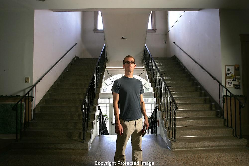 Columbus music promoter Ben Hamilton at the Milo Arts Complex.(Jodi Miller/Alive)