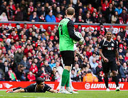 Luis Suarez reacts after winning a penalty - Photo mandatory by-line: Dougie Allward/JMP - Mobile: 07966 386802 - 29/03/2015 - SPORT - Football - Liverpool - Anfield Stadium - Gerrard's Squad v Carragher's Squad - Liverpool FC All stars Game