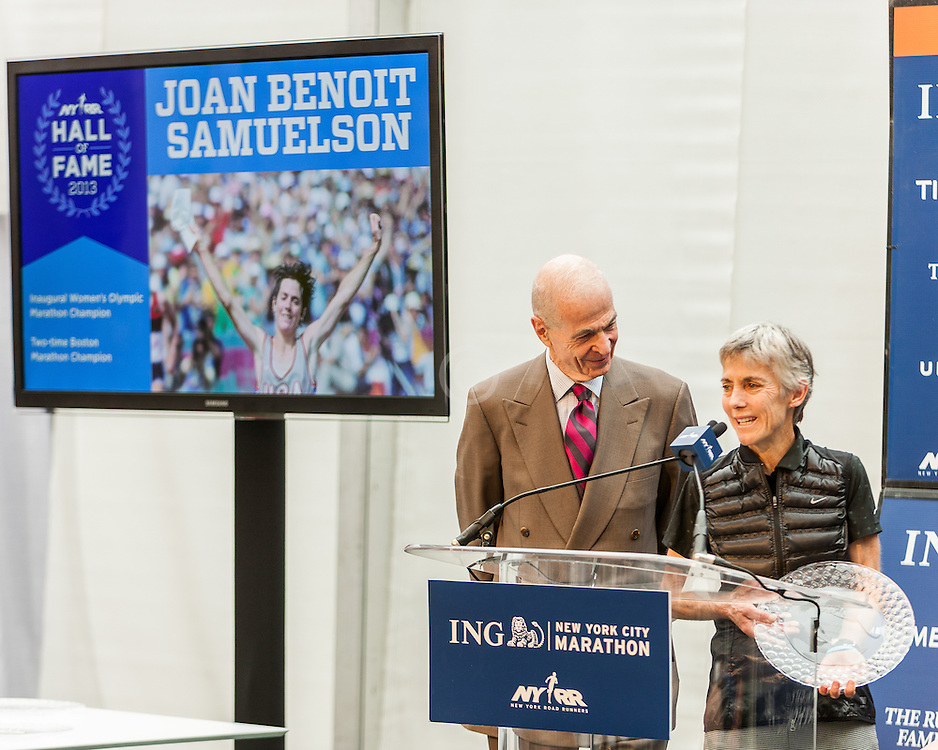 ING New York City Marathon: NYRR Hall of Fame induction, Hirsch, Samuelson