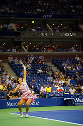 September 5, 2018 - Carla Suarez Navarro of Spain in action during her quarter-final match at the 2018 US Open Grand Slam tennis tournament. New York, USA. September 05, 2018. (Credit Image: © AFP7 via ZUMA Wire)