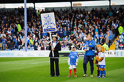 Portsmouth mascots take to the pitch - Photo mandatory by-line: Rogan Thomson/JMP - 07966 386802 - 19/04/2014 - SPORT - FOOTBALL - Fratton Park, Portsmouth - Portsmouth FC v Bristol Rovers - Sky Bet Football League 2.