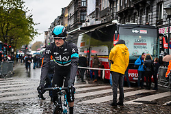 Wouter Poels (NED) of Team Sky at Liège, before the start of the 102th edition of Liège-Bastogne-Liège race running 253 km from Liège to Liège, Belgium, 24 April 2016.<br /> Photo by Pim Nijland / PelotonPhotos.com<br /> <br /> All photos usage must carry mandatory copyright credit (© Peloton Photos | Pim Nijland)
