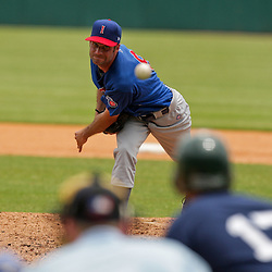 2009 July 07: Pitcher, Casey Fossum (9) of the Iowa Cubs pitches during a AAA Minor League Baseball game between the New Orleans Zephyrs AAA affiliate for the Florida Marlins and the Iowa Cubs a AAA affiliate for the Chicago Cubs  at Zephyrs Stadium in Metairie, Louisiana.