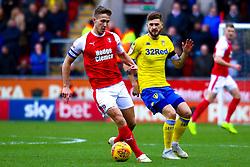 Will Vaulks of Rotherham United holds off Mateusz Klich of Leeds United - Mandatory by-line: Ryan Crockett/JMP - 26/01/2019 - FOOTBALL - Aesseal New York Stadium - Rotherham, England - Rotherham United v Leeds United - Sky Bet Championship