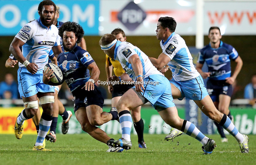 European Rugby Champions Cup Round 2, Altrad Stadium, Montpellier, France 25/10/2014<br /> Montpellier vs Glasgow Warriors <br /> Montpellier's Rene Ranger makes a break<br /> Mandatory Credit &copy;INPHO/James Crombie