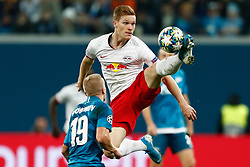 November 4, 2019, Saint Petersburg, USA: SAINT PETERSBURG, RUSSIA - NOVEMBER 05: defender Marcel Halstenberg of RB Leipzig and defender Igor Smolnikov of FC Zenit in action during UEFA Champions League match FC Leipzig at FC Zenit on November 05, 2019, at Saint Petersburg Stadium in Saint Petersburg, Russia. (Photo by Anatoliy Medved/Icon Sportswire) (Credit Image: © Anatoliy Medved/Icon SMI via ZUMA Press)