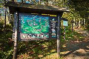 Park trail map, Risnjak National Park, Croatia