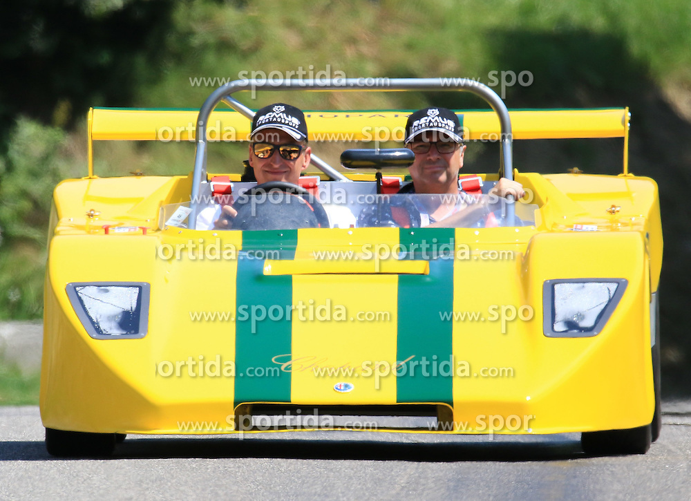 18.07.2015, Gröbming, Goebming, AUT, Ennstal Classic 2015, im Bild Andi Aigner. // during the Ennstal Classic 2015 in Gröbming in Goebming, Austria on 2015/07/18. EXPA Pictures © 2015, PhotoCredit: EXPA/ Martin Huber