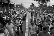 CAMBODIA. Chom Chao (Phnom Penh). 12/01/2011: Traffic jams at 6:30 am when garment factory workers go to work.