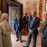 Italian PM Paolo Gentiloni visits the Citadel of the Charity of the Diocesan Caritas of Rome