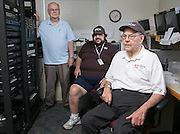 Jim Burlingame, Gene D'Ambrose, and Joe Russo at East Rochester Community Television in East Rochester on Wednesday, July 23, 2014.