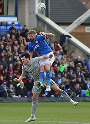 Mark Beevers of Peterborough United in action with John Marquis of Portsmouth - Mandatory by-line: Joe Dent/JMP - 07/03/2020 - FOOTBALL - Weston Homes Stadium - Peterborough, England - Peterborough United v Portsmouth - Sky Bet League One