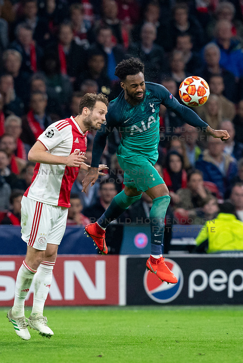 08-05-2019 NED: Semi Final Champions League AFC Ajax - Tottenham Hotspur, Amsterdam<br /> After a dramatic ending, Ajax has not been able to reach the final of the Champions League. In the final second Tottenham Hotspur scored 3-2 / Daley Blind #17 of Ajax, Danny Rose #3 of Tottenham Hotspur