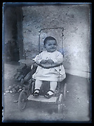 toddler in a stroller portrait France ca 1930s