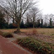 NLD/Huizen/20060104 - Kaal gemaakt terrein naast de nieuwe begraafplaats Naarderstraat Huizen, uitbreiding, fietspad, boom,