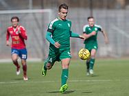 FODBOLD: Mads Brøndberg (Fredensborg BI) under kampen i Danmarksserien mellem Fredensborg BI og Slagelse BI den 7. april 2018 på Fredensborg Stadion. Foto: Claus Birch