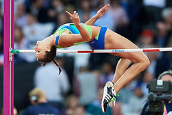 Great Britain, London - 2017 August 10: Marusa Cernjul from Slovenia competes in women's high jump qualification during IAAF World Championships London 2017 Day 7 at London Stadium on August 10, 2017 in London, Great Britain.<br /> Photo by © Adam Nurkiewicz / Sportida