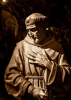 """St. Francis with the Stigmata - The Basilica of Santa Maria degli Angeli Museum - Russet""…<br />