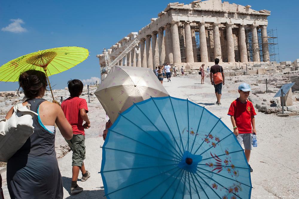 Athènes, 2010. Site de l'Acropole, le Parthénon.