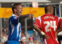 Photo: Ashley Pickering.<br /> Colchester United v Charlton Athletic. Coca Cola Championship. 15/09/2007.<br /> Teddy Sheringham of Colchester shouts to his team mates