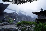 The number 12 temple Shōsan-ji (焼山寺) at the Shikoku Pilgrimage, 88 temples associated with the Buddhist monk Kūkai (Kōbō Daishi) on the island of Shikoku, Kamiyama, Tokushima Prefecture, Japan