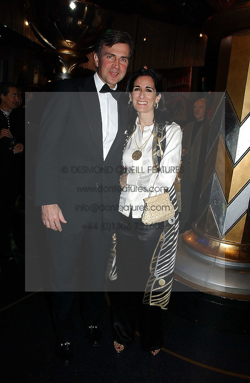 PRINCE & PRINCESS KARL VON AUERSPERG-BREUNNER at Andy & Patti Wong's annual Chinese New year Party, this year to celebrate the Year of The Pig, held at Madame Tussauds, Marylebone Road, London on 27th January 2007.<br />