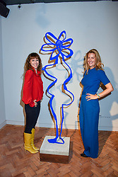 Annie Morris and Georgina Cohen at a VIP private view of 21st Century Women held at Unit London, Hanover Square, London England. 03 October 2018.