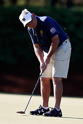 Jimmy Dunne putts during the Chick-fil-A Peach Bowl Challenge at the Oconee Golf Course at Reynolds Plantation, Sunday, May 1, 2018, in Greensboro, Georgia. (Paul Abell via Abell Images for Chick-fil-A Peach Bowl Challenge)