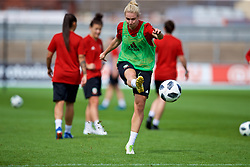 NEWPORT, WALES - Thursday, August 30, 2018: Wales' Rhiannon Roberts during a training session at Rodney Parade ahead of the final FIFA Women's World Cup 2019 Qualifying Round Group 1 match against England. (Pic by David Rawcliffe/Propaganda)