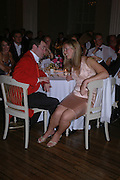 Simon Holmes and Victoria Fairchild. Connaught Square Squirrel Hunt Inaugural Hunt Ball. Banqueting House, Whitehall. 8 September 2005. ONE TIME USE ONLY - DO NOT ARCHIVE  © Copyright Photograph by Dafydd Jones 66 Stockwell Park Rd. London SW9 0DA Tel 020 7733 0108 www.dafjones.com