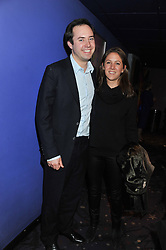 JAMIE MURRAY WELLS and LOTTIE FRY at a private screening of the film The Iron Lady hosted by nightclub Maggie's held at Cineworld, King's Road, London on 19th January 2012.