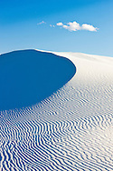 Sand dune under a single cloud - White Sands National Monument, New Mexico