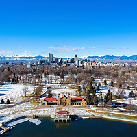 Fine Art - Denver Skyline and Rocky Mountains