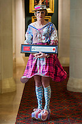 Turner Prize-winning potter Grayson Perry (as Claire) receives the Freedom of the City of London in recognition of his contribution to the arts - . Guildhall Art Gallery, Guildhall Yard, London, UK 22 Apr 2015